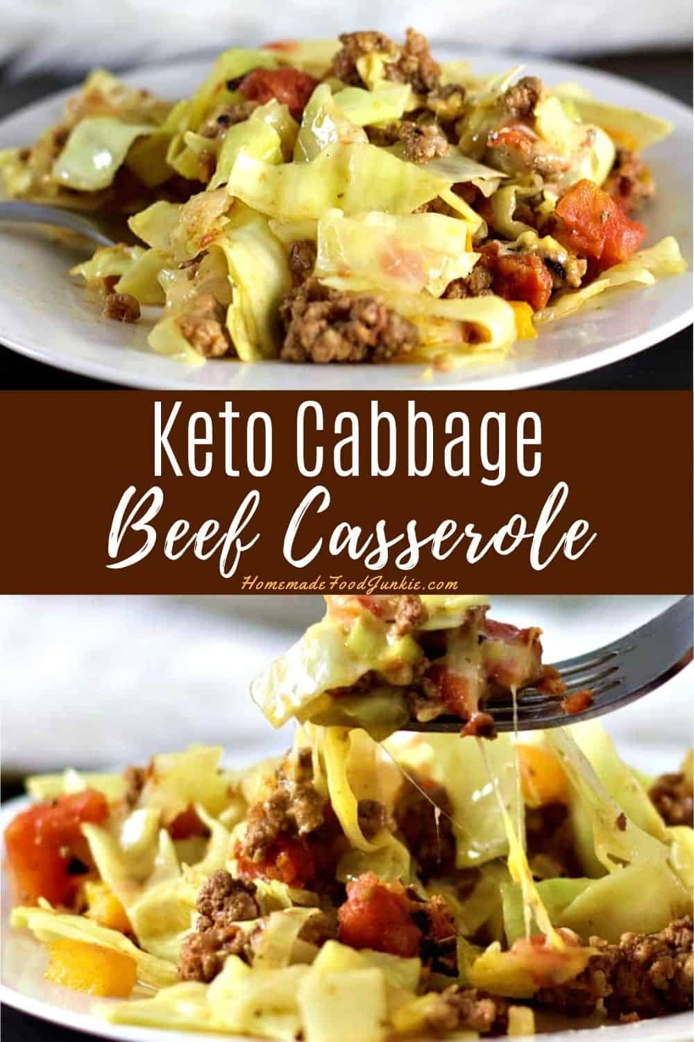 Keto approved cabbage beef casserole is an easy low-carb ...