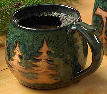 Wild Wingsstoneware Coffee Mug Tree Stoneware Mugs