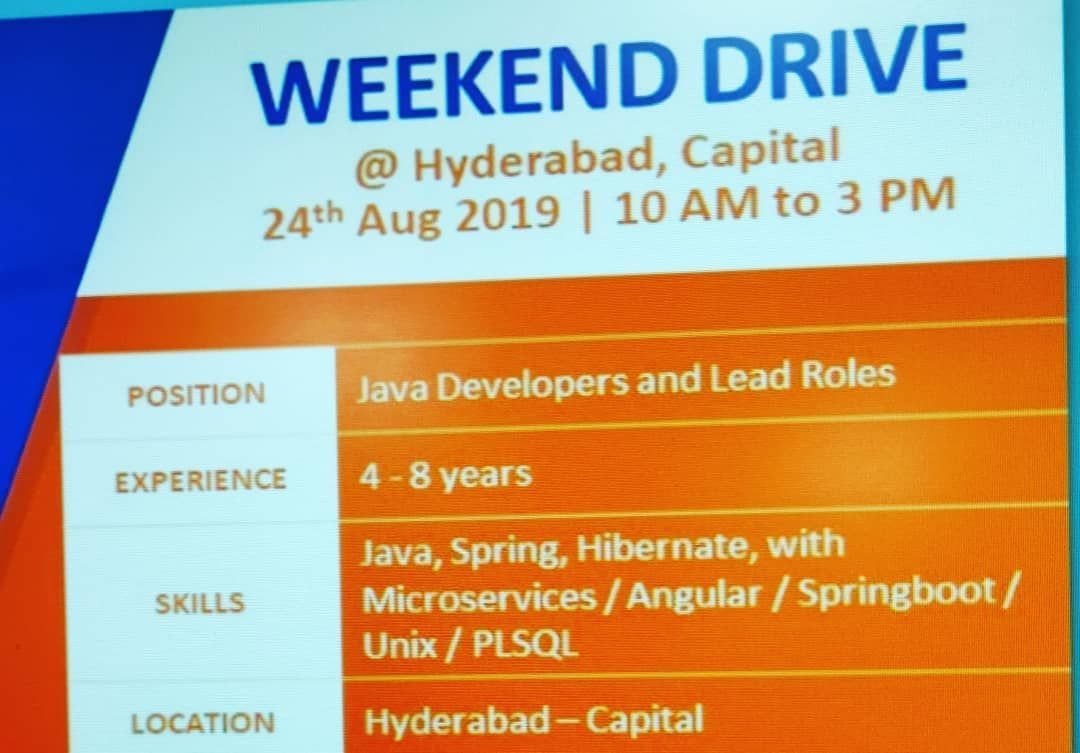 Java developer and lead roles in Virtusa Interested people