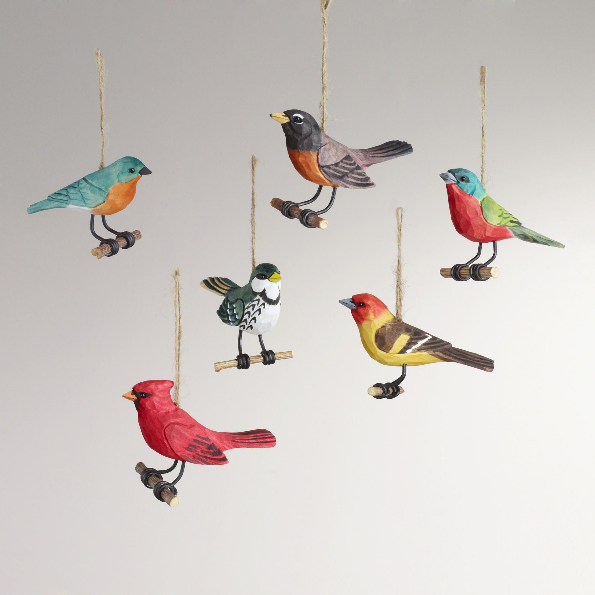 glass bird christmas tree decorations