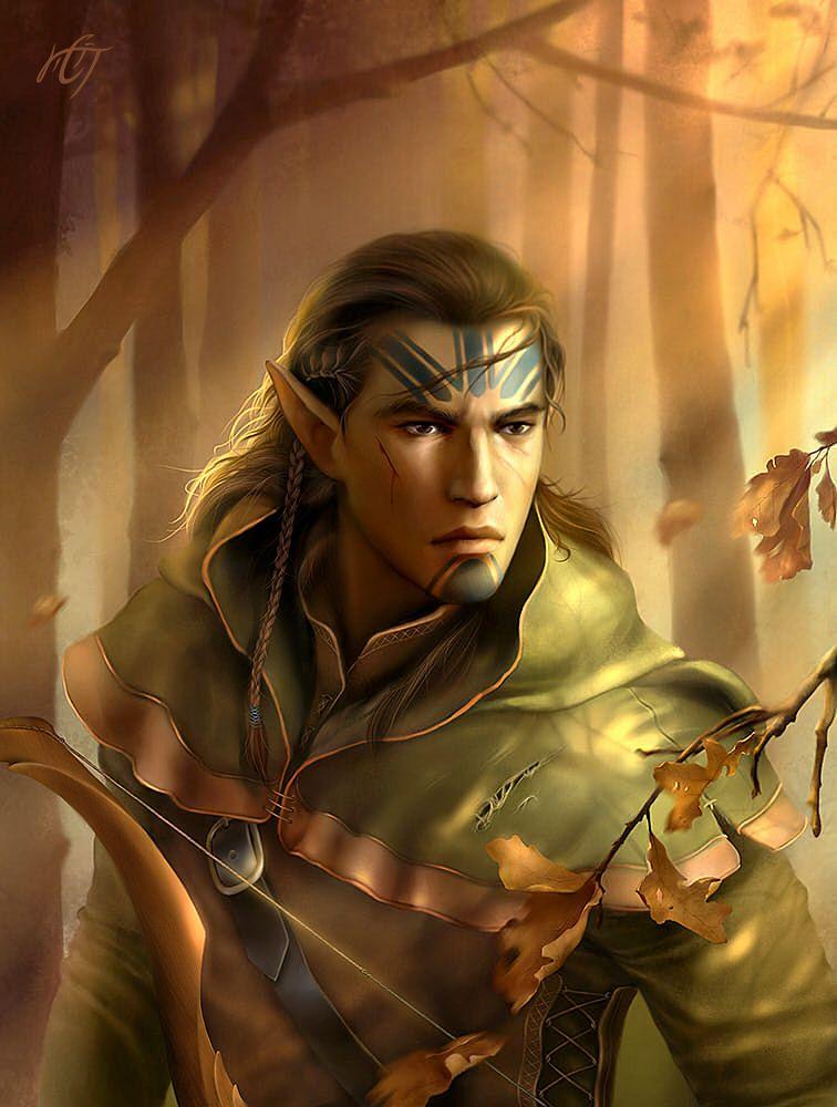 Kivan Baldur S Gate By Inar Of Shilmista Deviantart Com On Deviantart Elf Ranger Baldur S Gate Portraits Male Elf