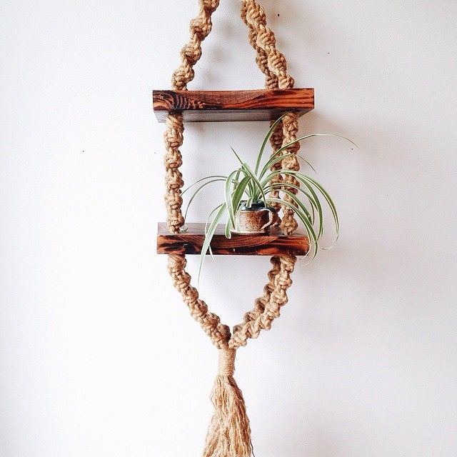 Macrame hanging shelf | You can do it (put your back into ...
