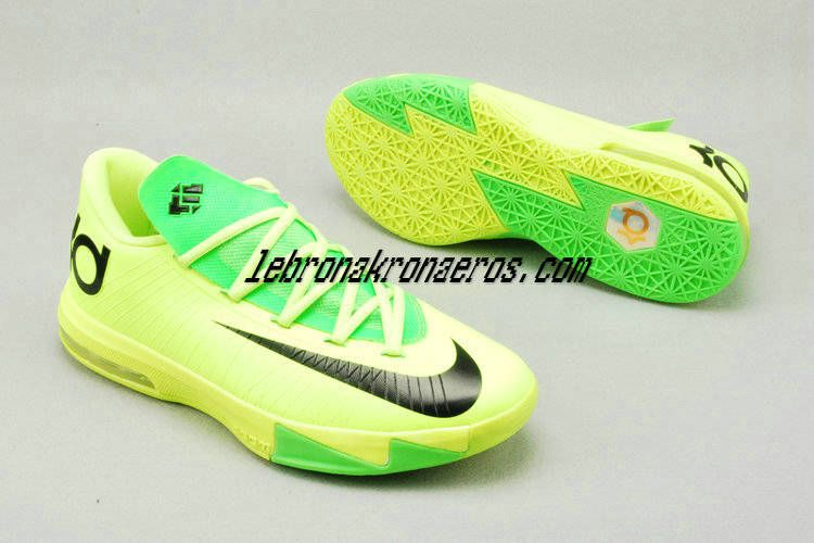 sports shoes 8bc80 c51e5 Volt Electric Green Nike Zoom KD 6 Womens Shoes For Sale Black 599424 701