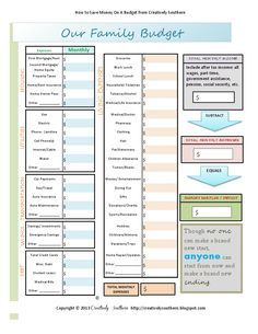 budget worksheet free printable pdf ocd pinterest budgeting