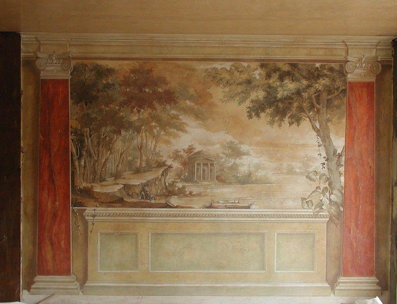 Decor Wall Fresco Decoration Of Hotel De La Ville Monza Italian