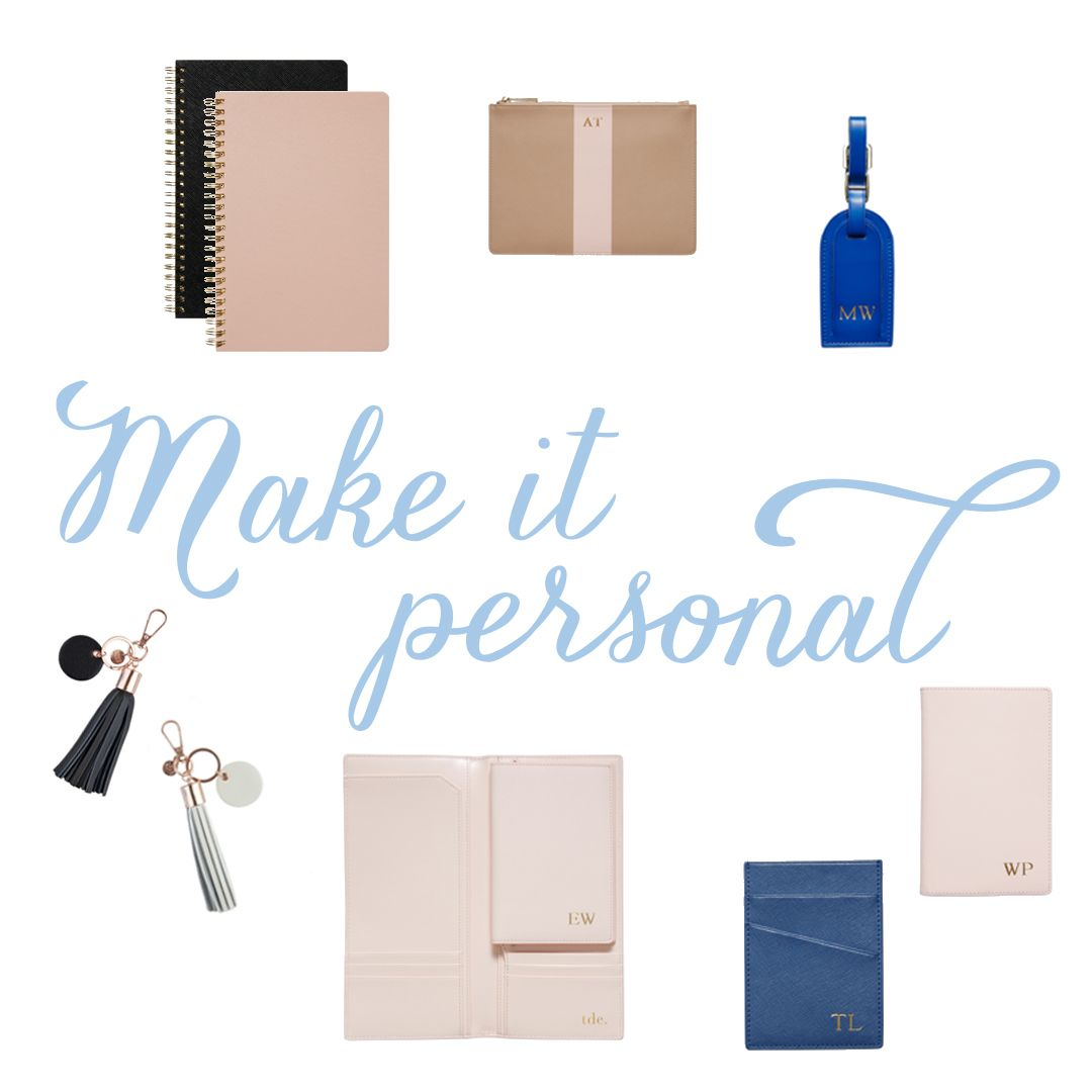 acessórios personalizados, paper stuff we love #personalized #paper #initials #desk #officestuff #travel