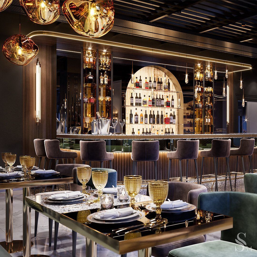 Top Projects By Studia 54 In 2020 Restaurant Design Inspiration Restaurant Cigar Room Decor