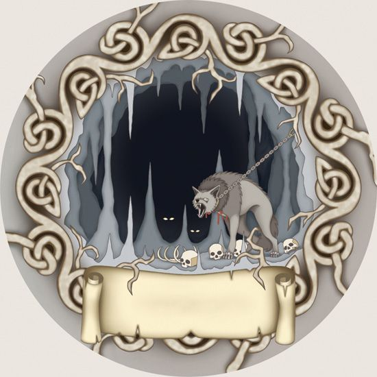 Hel, the realm of the dead. Sól Hrafnsdóttir Illustration