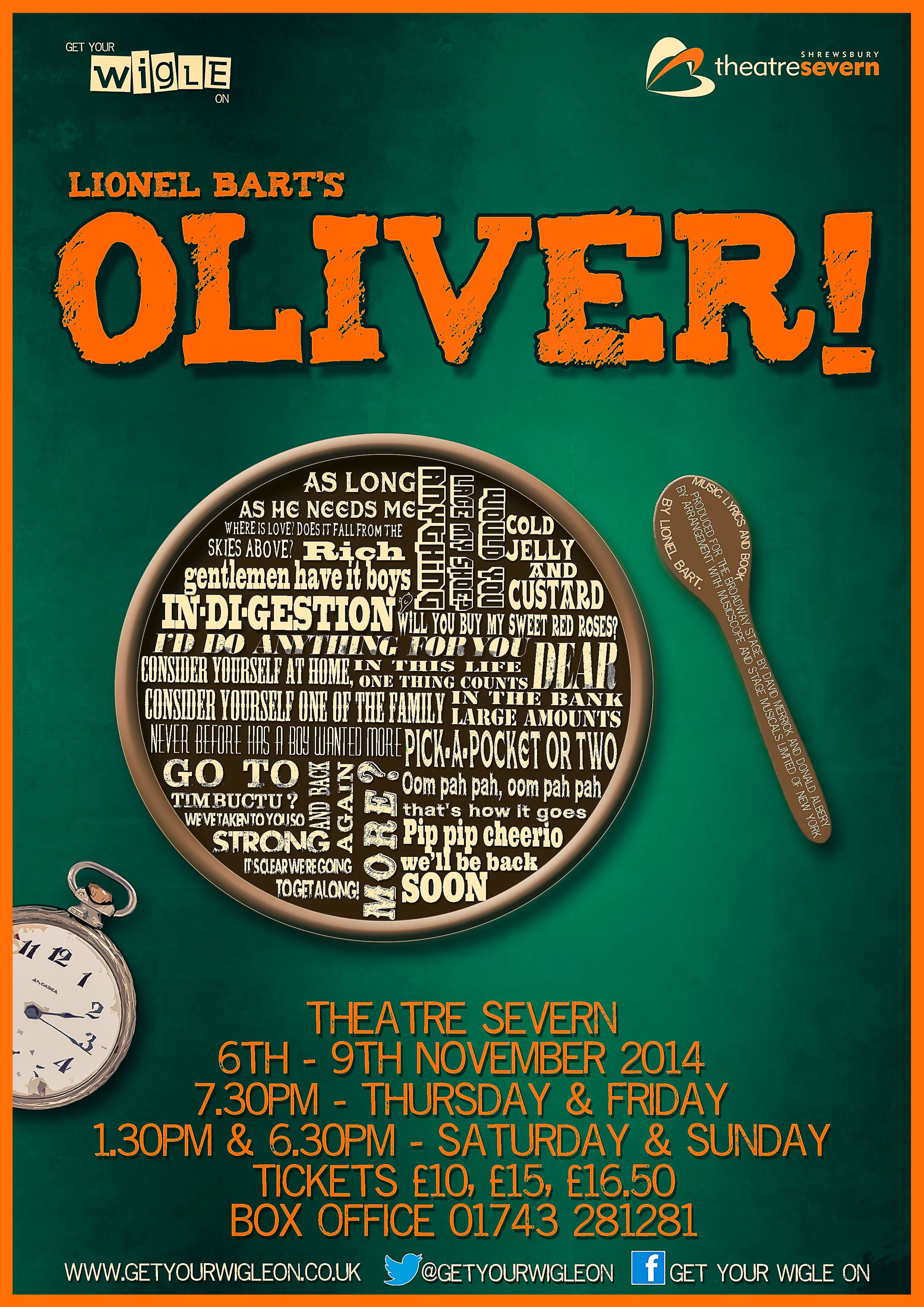 Design poster yourself - My Oliver Poster Design For Local Amateur Theatre Company