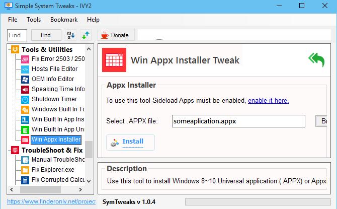 Cara Paling Mudah Instal Aplikasi Ekstensi Appx Appxbundle Dengan Symtweaks Dan Powershell Cara Pasang Aplikasi Windows Store Tan Aplikasi Windows Penekanan