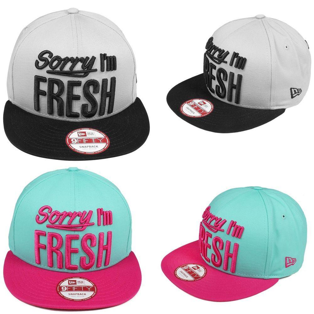 "New Era ""Sorry I'm Fresh"" Snapback Unisex Top Grau/Schwarz Türkis/Pink"