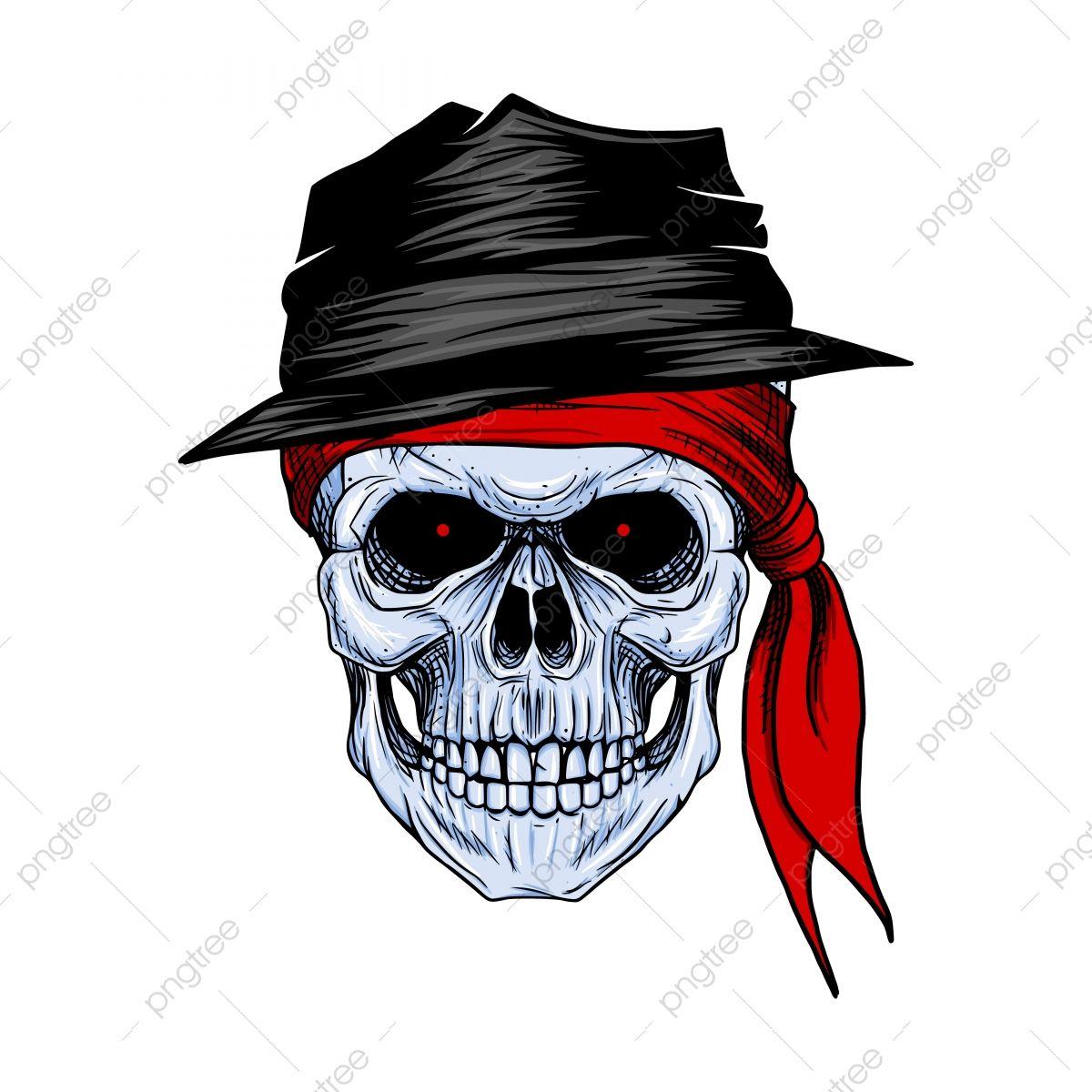 Bandido De Caveira Com Bandana Vermelha E Chapeu Mao Desenho Cranio Americano Anatomia Arte Imagem Png E Vetor Para Download Gratuito Dessins Sur Les Mains Image Clipart Bandana Rouge