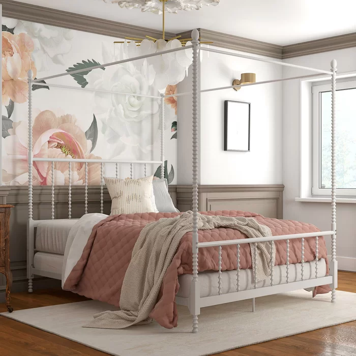 Karlee Metal Canopy Bed in 2020 Metal canopy bed, Canopy