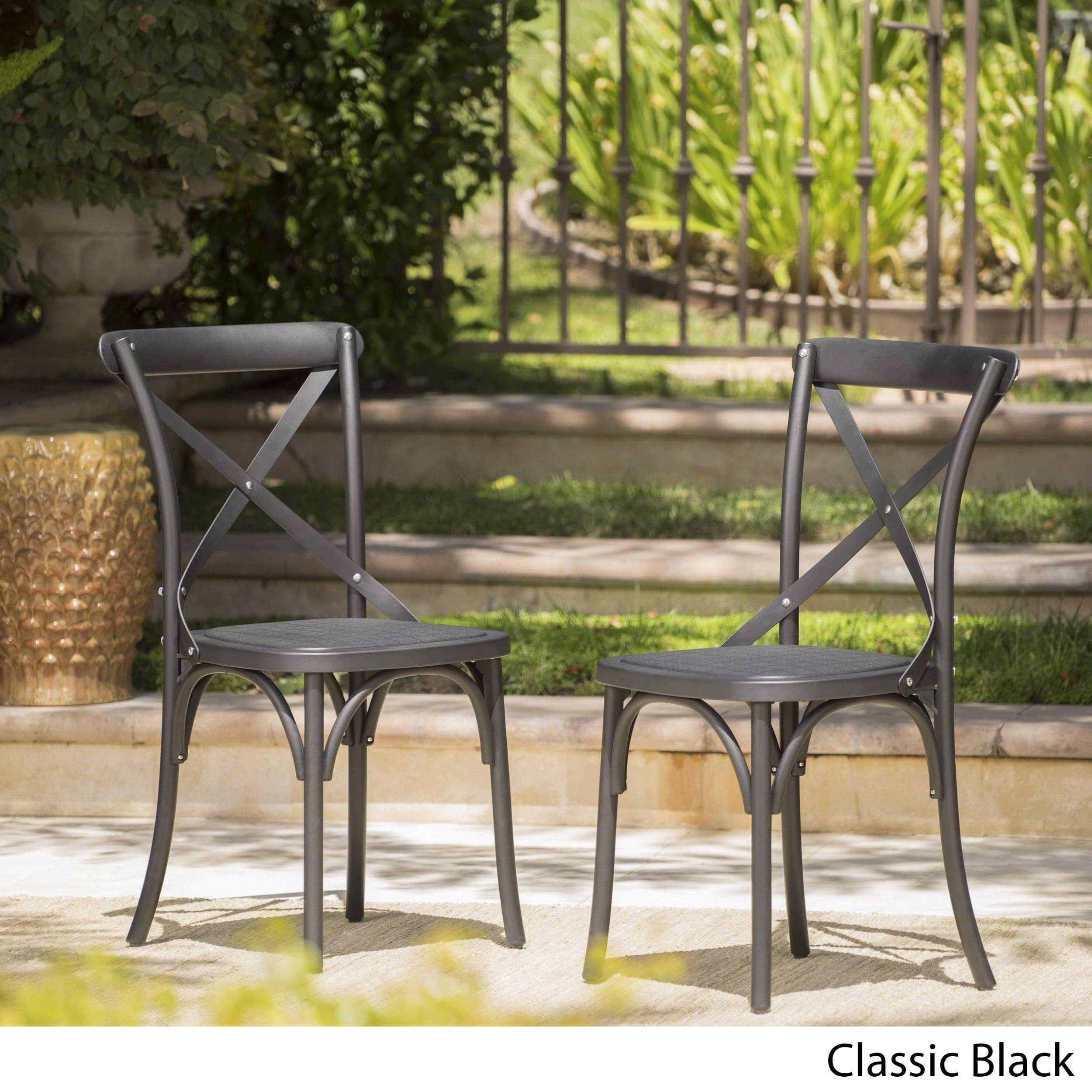 Danish Outdoor Farmhouse Dining Chair Set Of 2 By Christopher Knight Home Classical