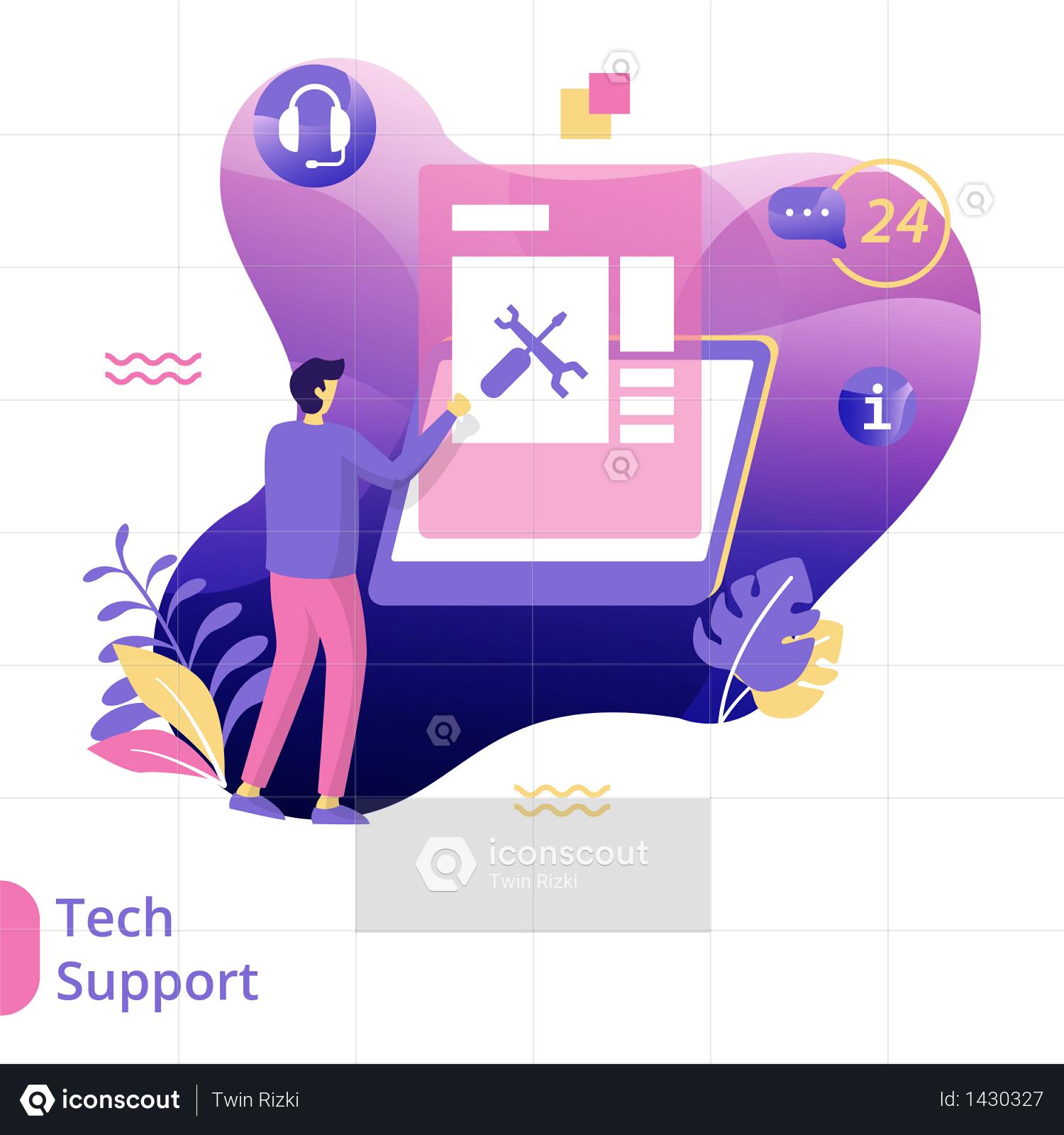 Flat Illustration Of Tech Support Illustration Support Illustration Communication Illustration Flat Illustration