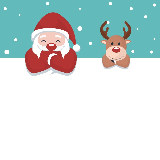 christmas card of santa claus and reindeer on white poster to write christmas santa reindeer png and vector with transparent background for free download christmas card design christmas cards christmas vectors christmas card of santa claus and