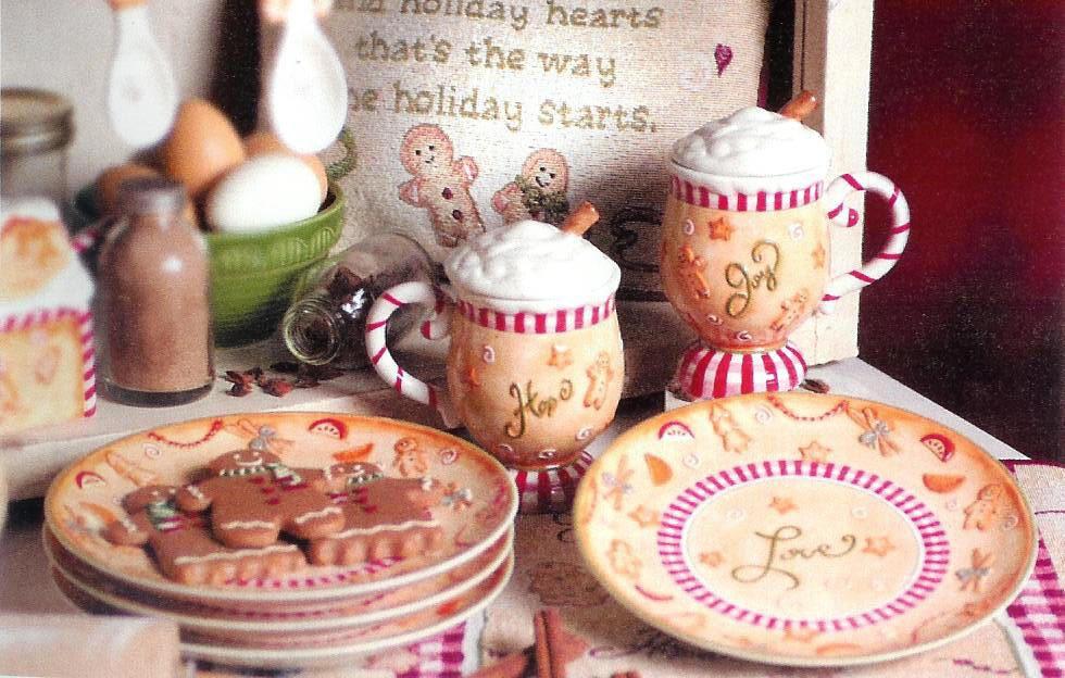 gingerbread man dinnerware sets \u003e cute little table scene & Ceramic Holiday Plates Set of 4 | A Gingerbread Christmas \u003c3 ...