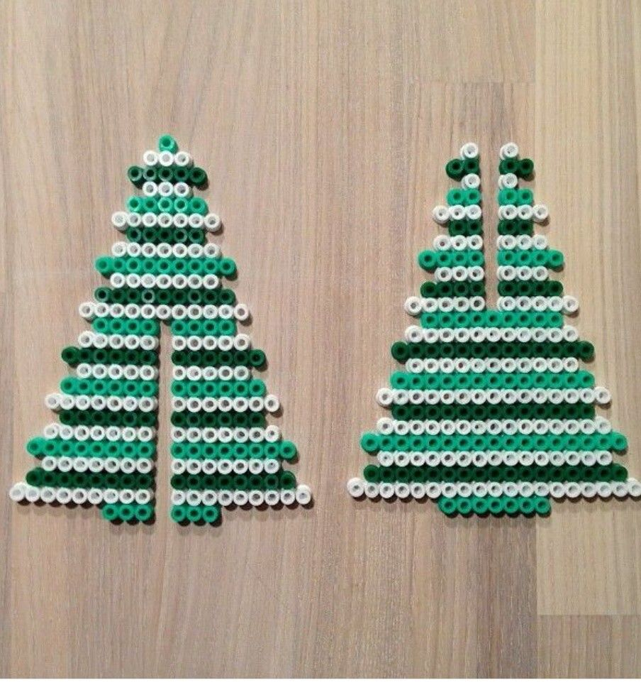 Arbol navidad   plantillas hamma beads   Pinterest   Hama beads and ...