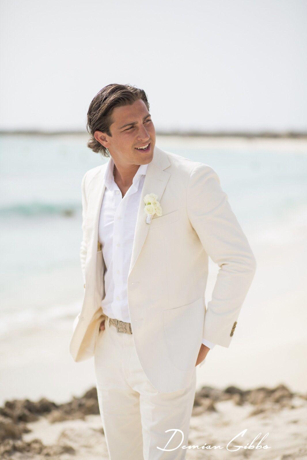 Beach wedding groom attire SuitSupply NYC Wedding Location