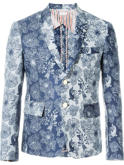 417e8243ce4 Shop Thom Browne floral print blazer in Boutique Mantovani from the world s  best independent boutiques at farfetch.com. Shop 400 boutiques at one  address.