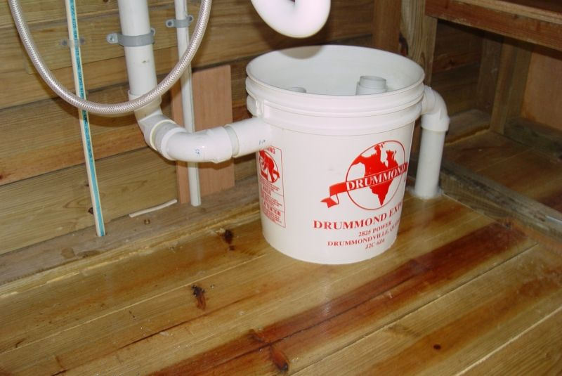 Kitchen Sink Drainage Homemade Grease Trap Using A Bucket