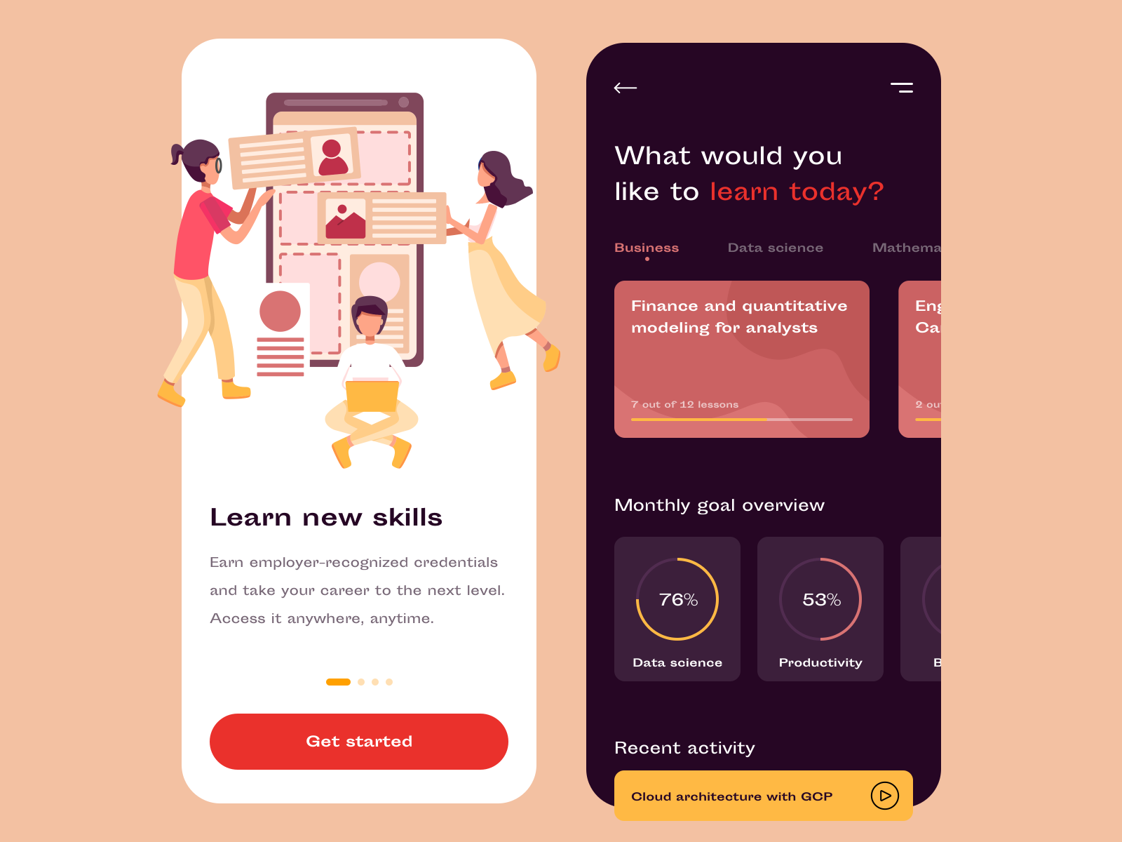 startup learning app - mvp design | app, learning, design