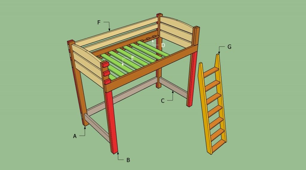 Build a loft bed | Bed Frame Plans | Pinterest | Lofts, Room and ...