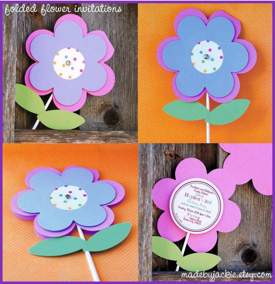 flower invitation | Party Ideas | Pinterest | Flower invitation ...