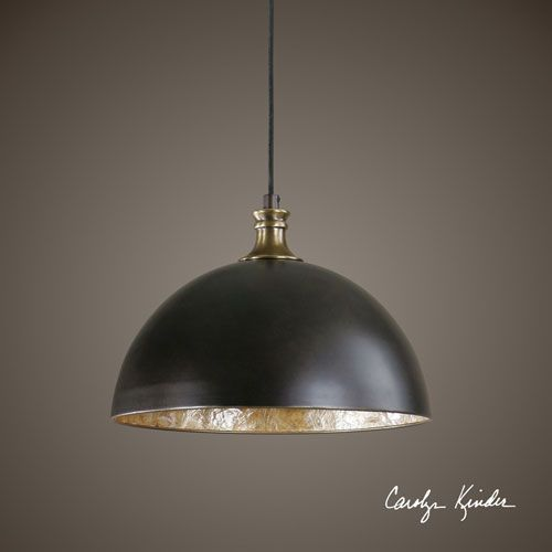 Medium image of placuna bronze with antique brass one light pendant uttermost dome pendant lighting ceilin