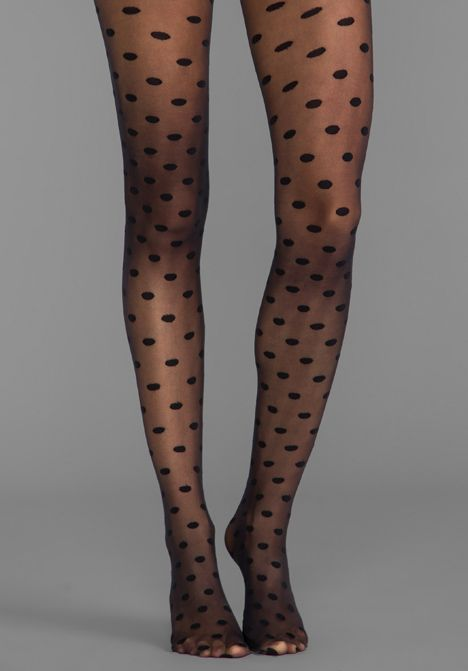 d54f66a7d81 Alice and Olivia by PRETTY POLLY Semi Sheer Polka Dots Tights in Black -