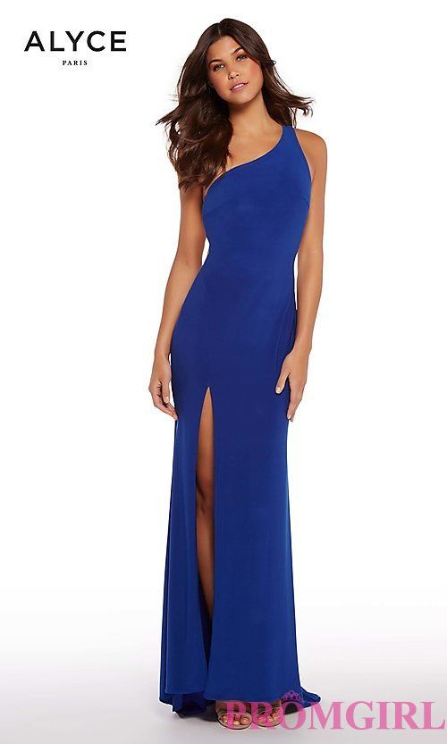ca7e8c0bbb93 One-Shoulder Long Prom Dress   Dream Closet   Prom dresses, Open ...