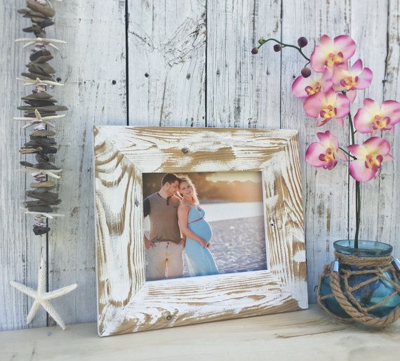 Reclaimed Wood Picture Frame White Washed By Ecoartwooddesign Eco