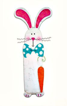 Bunny With Carrot Door Hanger Peri Woltjer Silverstri