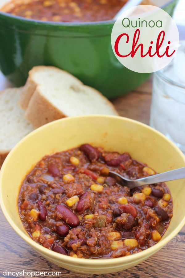 We have been pretty sick the past few days but took the time to make this yummy Quinoa Chili. I had not tried Quinoa yet and the hubby was bound and determi