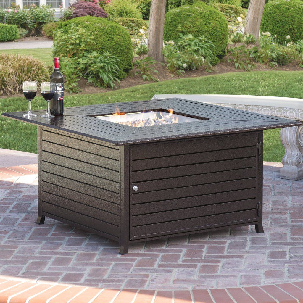 Garden fire features  Extruded Aluminum Fire Pit Table  Patio Perfection  Pinterest