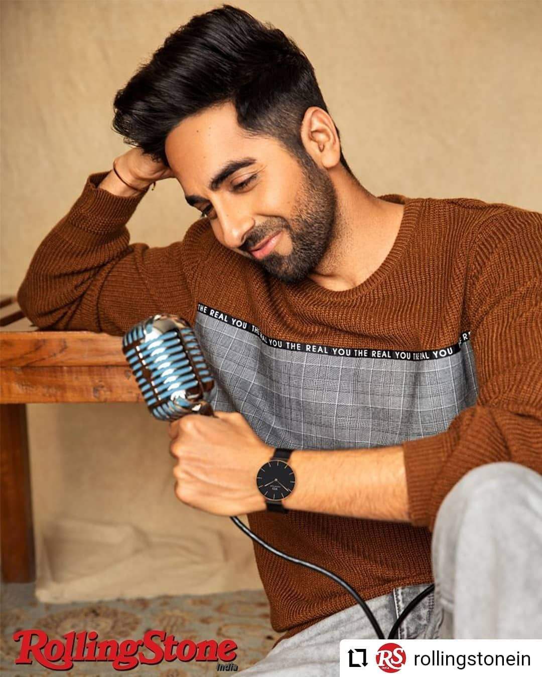 Repost Rollingstonein Coverstory Talent Is Overrated At Times You Can T Do Anything Without Discip Ayushmann Khurrana Bollywood Actors Handsome Actors