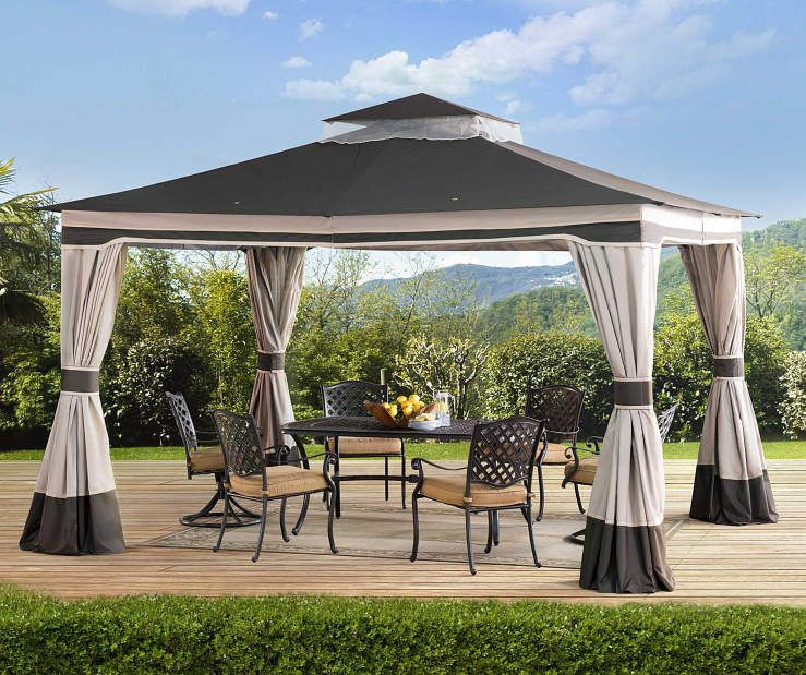Wilson Fisher Gary Brown Beige Soft Top Gazebo 10 X 12 Big Lots Gazebo Patio Gazebo Pergola