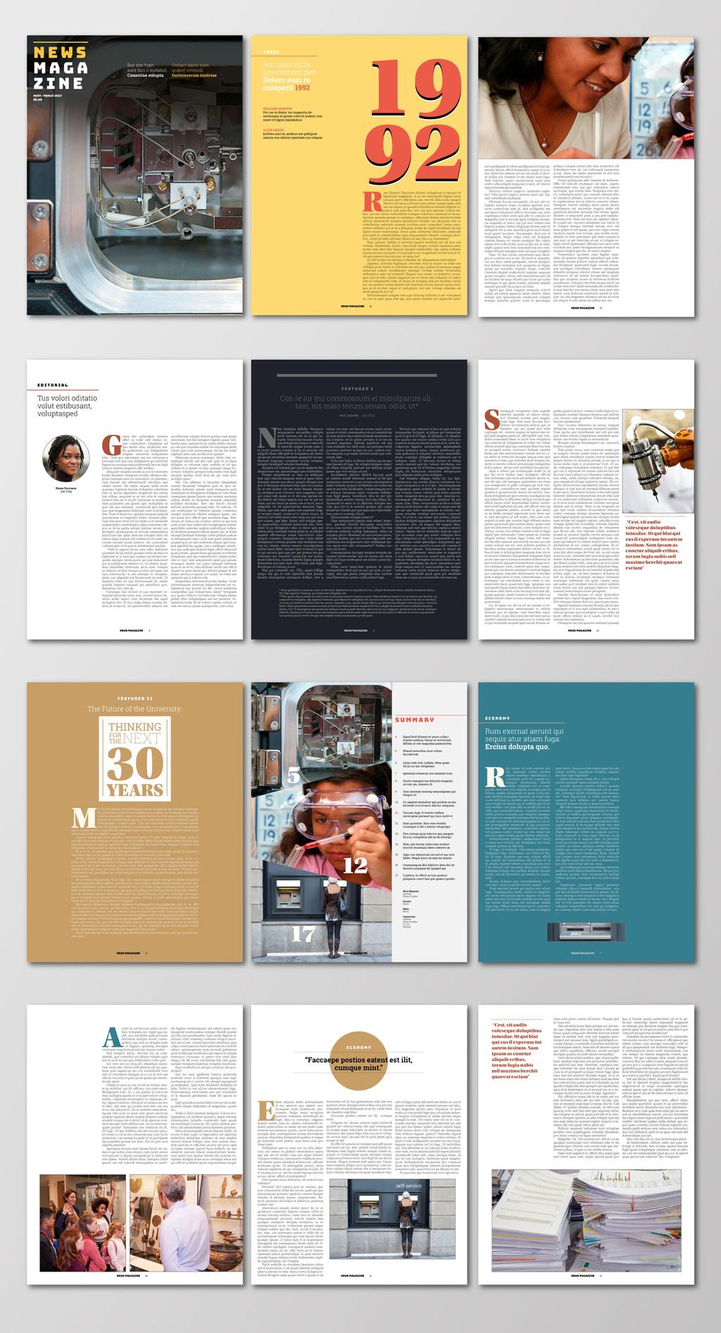 Free InDesign Magazine Templates Design Magazine