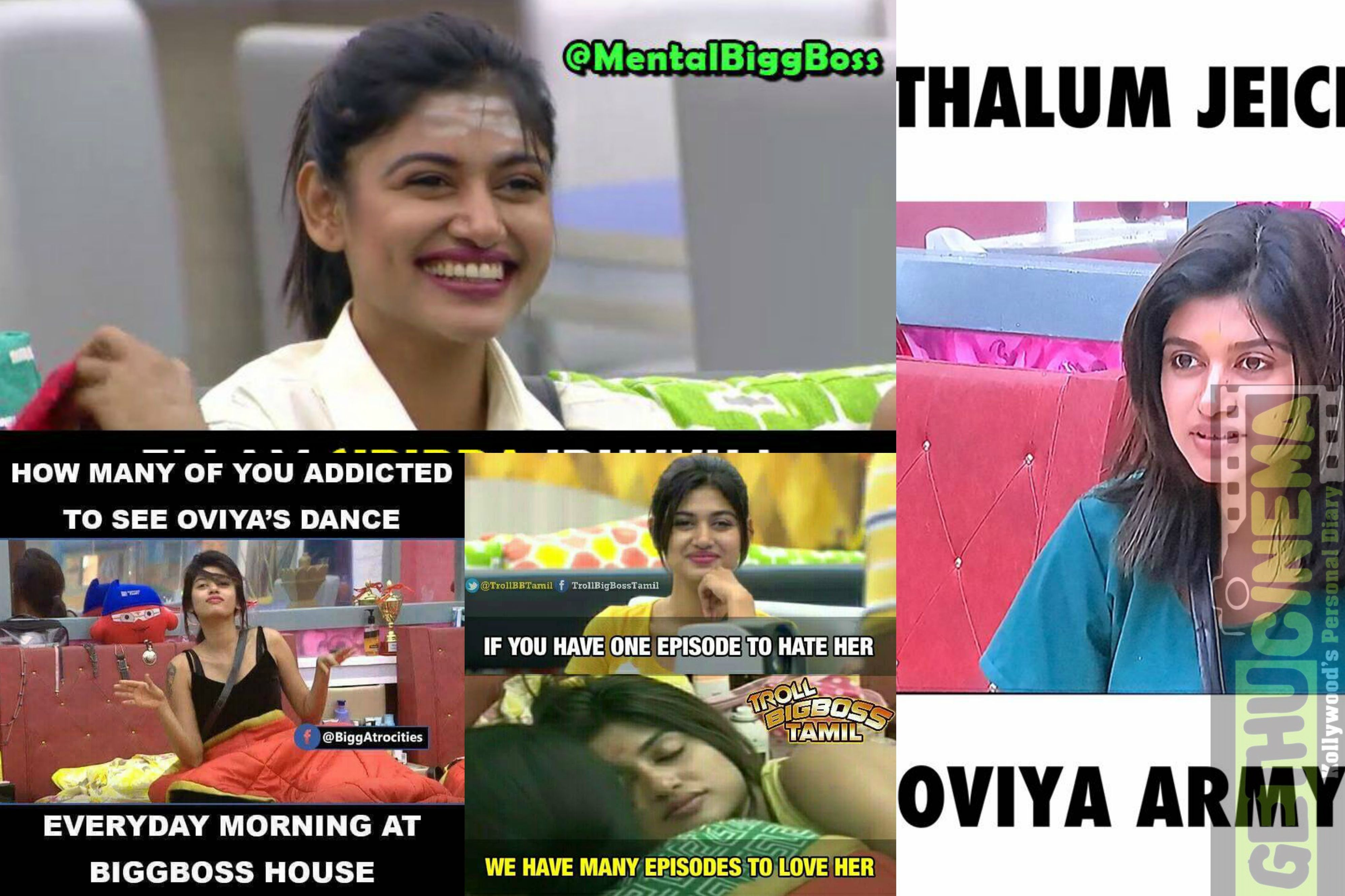 b09f02fbed6cc0cf6c39315e80fa9c9b bigg boss oviya fans cutest memes memes, army and fans