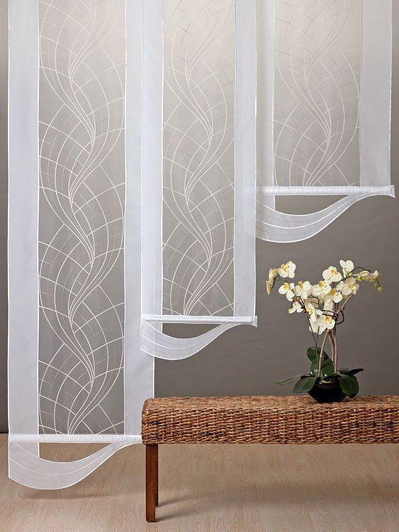 Flachenvorhang Paneel Schiebevorhang Mit Welle Behang Gardine Mobel Wohnen Rollos Gardinen In 2020 Sliding Curtains Window Coverings Bedroom Panel Curtains