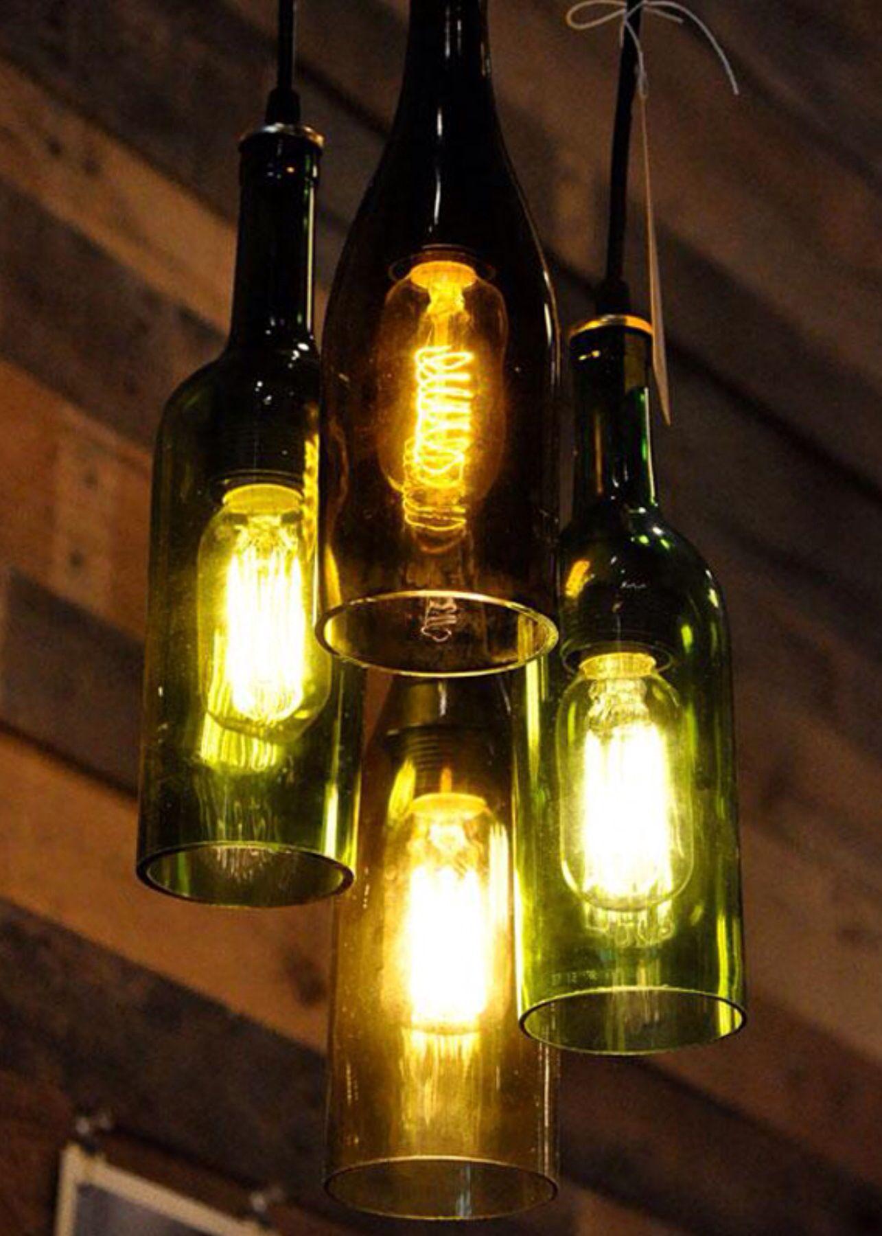 The Napa Wine Bottle Chandelier