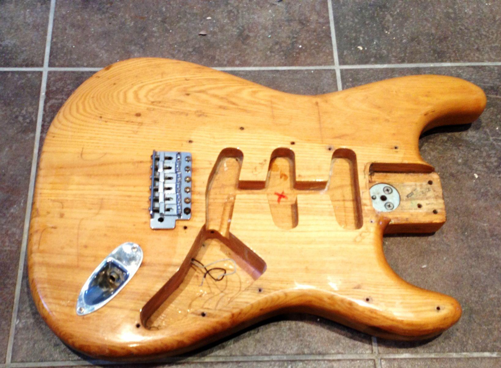 fender bass headstock template - superb 1970 39 s fender stratocaster body all original