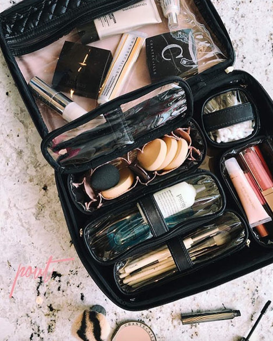 PurseN Travel Diva Makeup Case Timeless Quilted Makeup