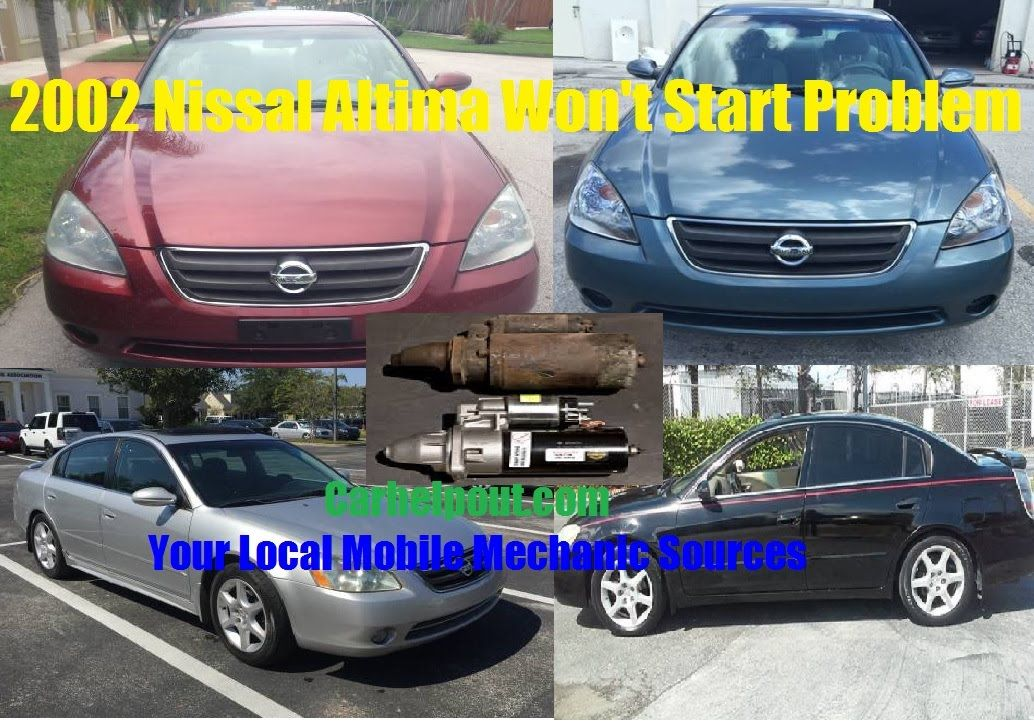 pin by carhelpout on mobile mechanic tips and tricks nissan altimaproblem with 2002 nissan altima starter solenoid failure issues make it not starting check out