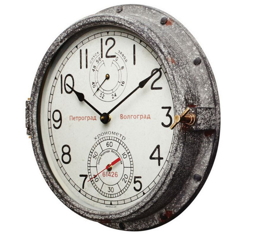 Http Www Houzz Com Photos 62415559 Pendulux Vintage Style Reproduction Petrograd Wall Clock Industrial Wall Clocks Wall Clock Clock Industrial Clock Wall