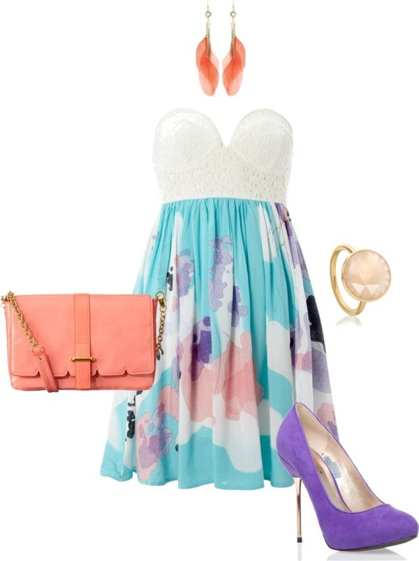 Pop of Color, created by soccersuperchick on Polyvore