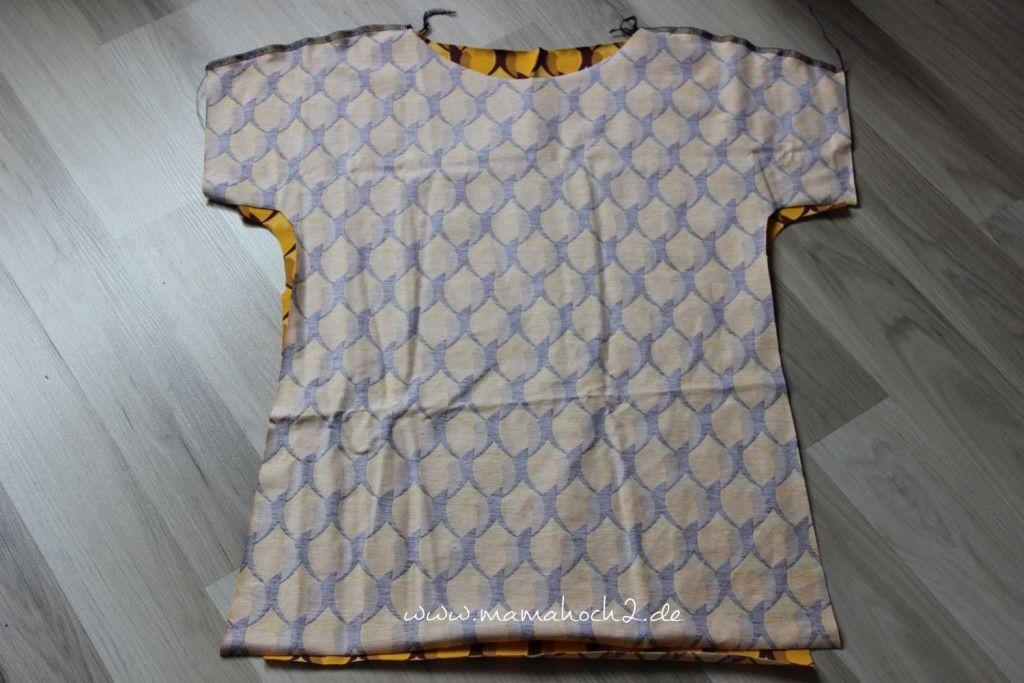 Nähidee mit Kurzanleitung: schnelles Sommershirt oder schnelles Minikleid? ⋆ Mamahoch2 #sommerkleidselbernähen
