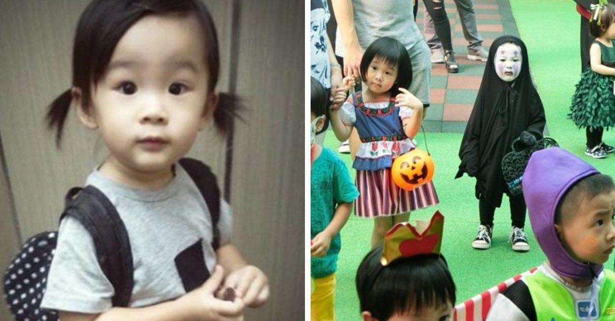 Ella es Momo Lu, una adorable niña de 2 años que vive en Taiwán y  ha vuelto locos a todos en las redes por su originalidad, pues eligió un disfraz poco común