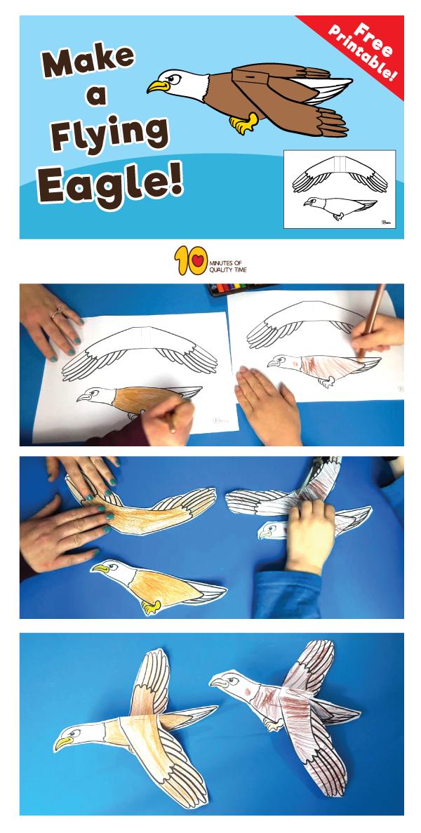 Diy Flying Eagle Eagle Craft Bird Crafts Animal