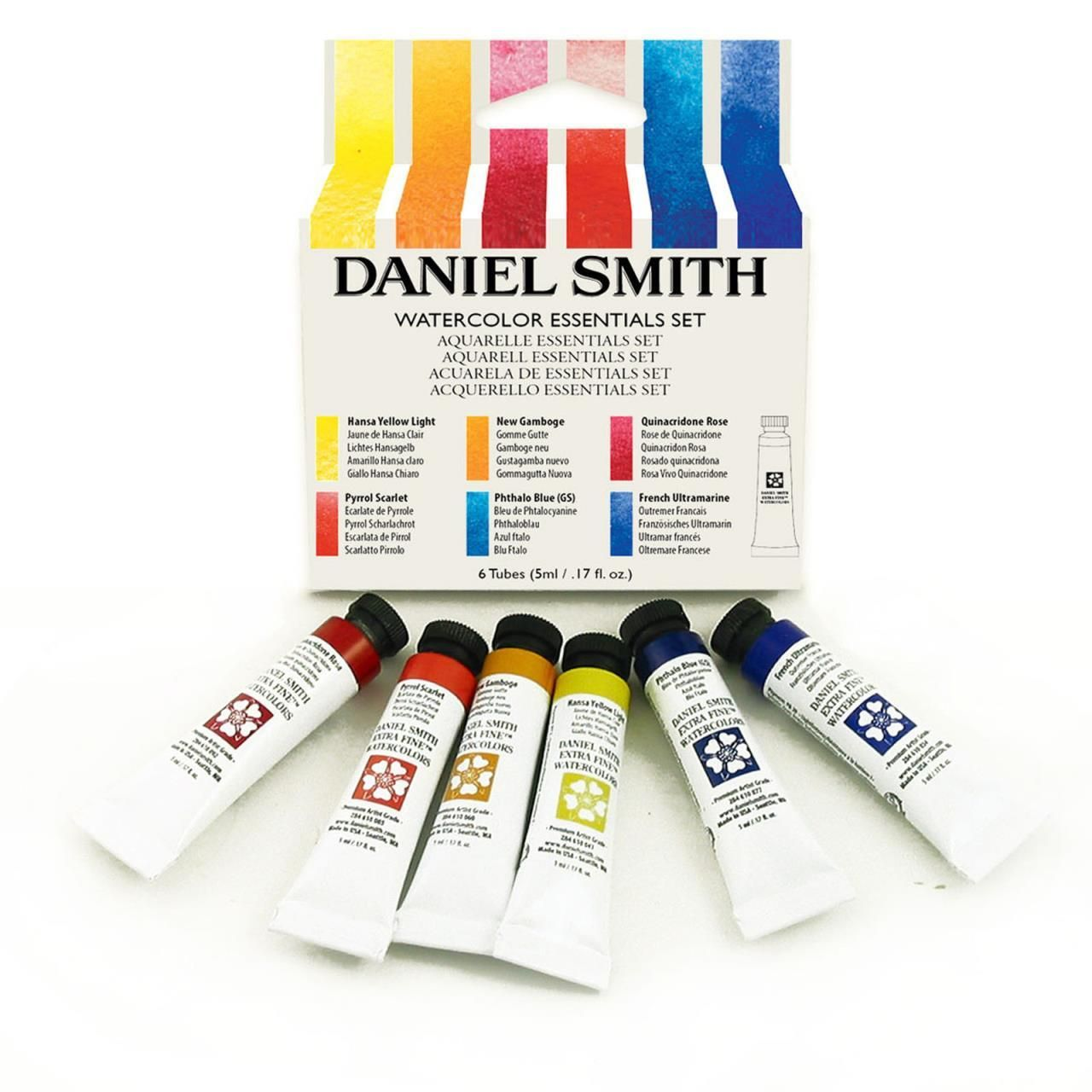 Essentials 5ml Set Of 6 Daniel Smith Extra Fine Watercolors